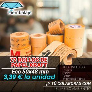 Cinta adhesiva papel Kraft Eco